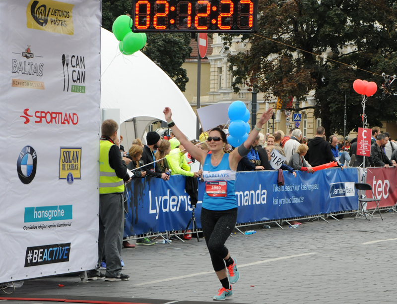 Halbmarathon-Finisherin in Vilnius am 13.09.2015