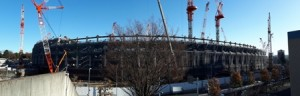 Baustelle zum Neubau des Olympiastadions
