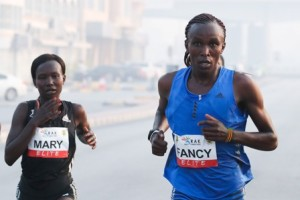 Fancy Chemutai und Mary Keitany