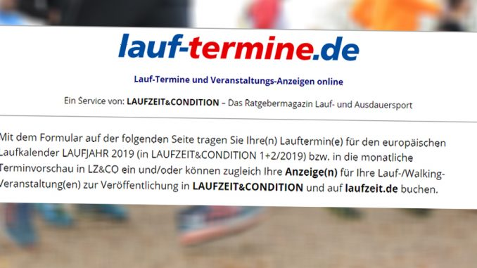 lauf-termine.de – 2019er Lauftermine